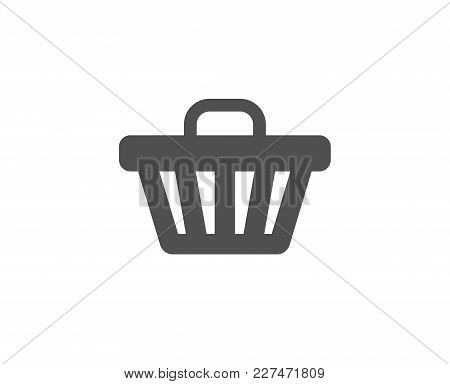 Shopping Cart Simple Icon. Online Buying Sign. Supermarket Basket Symbol. Quality Design Elements. C