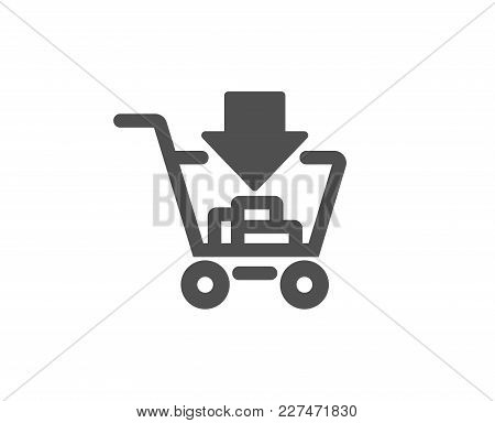 Add To Shopping Cart Simple Icon. Online Buying Sign. Supermarket Basket Symbol. Quality Design Elem