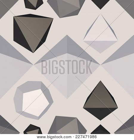 Difficult Structure Seamless Pattern Background. Vector Illustration.
