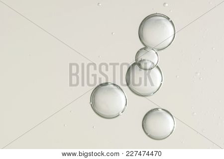 Air Bubbles Flowing Toward The Water Surface