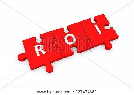Roi Puzzle Conceptual White Background 3d Illustration