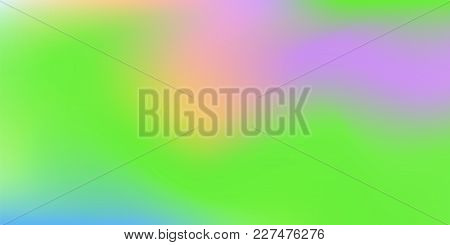 Holographic Background. Colorful Rainbow Gradient.   Smooth Blend Banner Template.  Easily Editable