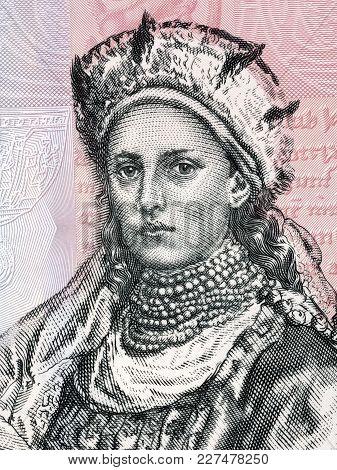 Doubravka Of Bohemia Portrait From Polish Money