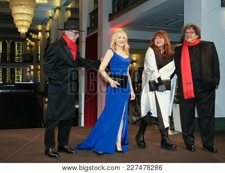 Dieter Kosslick, Patricia Clarkson, Isabel Coixet attend the 'The Bookshop' premiere during the 68th Film Festival Berlin at Friedrichstadtpalast on February 16, 2018 in Berlin, Germany.
