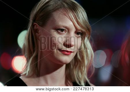 Mia Wasikowska attends the 'Damsel' premiere during the 68th Film Festival Berlin at Berlinale Palast on February 16, 2018 in Berlin, Germany.