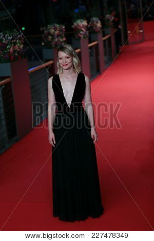 Mia Wasikowska attends the 'Damsel' premiere during the 68th Film Festival Berlin at Berlina