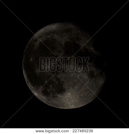 High Contrast Full Moon Seen Through A Telescope Image Taken With My Own Telescope