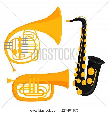 Musical Wind Instruments Blow Blare Studio Acoustic And Shiny Musician Equipment Orchestra Trumpet V