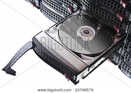 Open Hard Disk In Hot Swap Frame