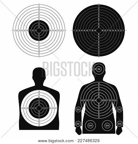Collection Of Different Targets For Shooting Template Vector Eps 10