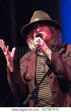 Martha Davis performs at the Wild Honey Orchestra and Friends tribute to Buffalo Springfield all-star concert at the Alex Theatre in Glendale, CA on Feb. 17, 2018.