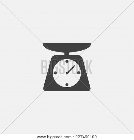 Scale Icon Vector Illustration. Weight Icon Vector