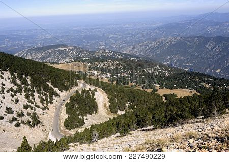 Access Road To The Summit Of Mount Ventoux View From The Top With The Bottom In Landscape
