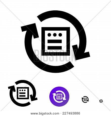 Mass Import File Icon Or Sync Icon For Business, E-commerce. Vector Line Icon With The Image Of Circ