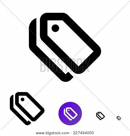 Tag Or Label Icon For Business, E-commerce. Vector Icon In Line Style Of Of Different Sizes 192px, 1