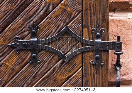 Beautiful Old Door. Ancient, Wooden, Entrance,  English,