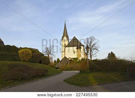 A Beautiful Gothic Parish Church Maria Worth In Carinthia