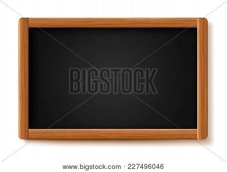 Menu Chalkboard On White Background. Board Wood Frame. School Board. Room To Add Text. Vector Illust