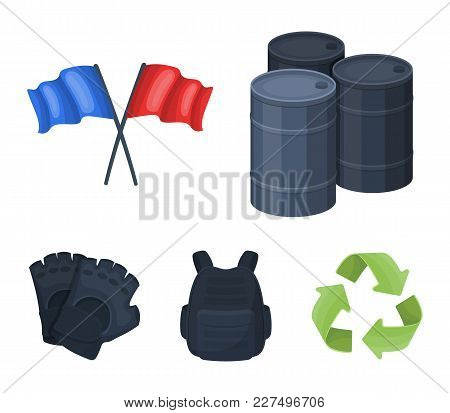 Protective Vest, Gloves And Other Equipment. Paintball Single Icon In Cartoon Style Vector Symbol St