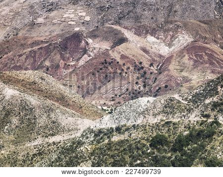 Close Up Portion Of The Colorful Cordillera De Frailes, Sucre, Bolivia