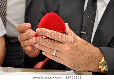 Men's hands and heart