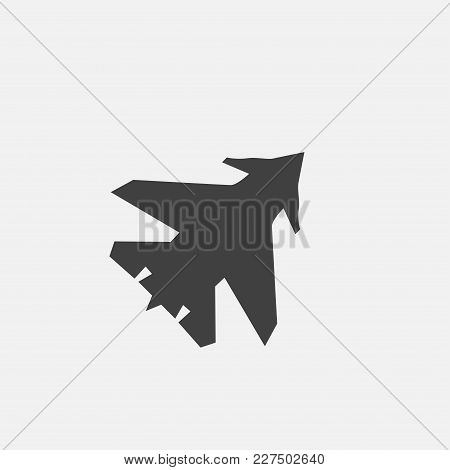 Force Plane Icon Vector Illustration. Air Force Icon Vector
