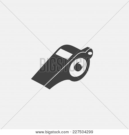 Whistle Icon Vector Illustration. Game Icon Vector