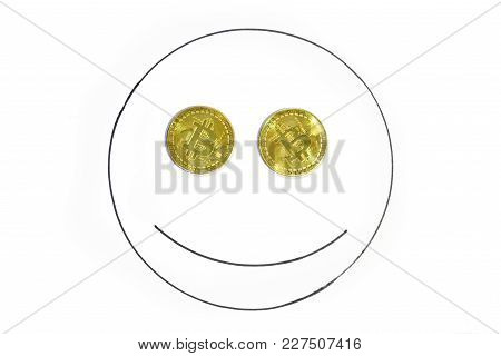 Bitcoin Gold Coin Cryptocurrency A Digital Money Concept