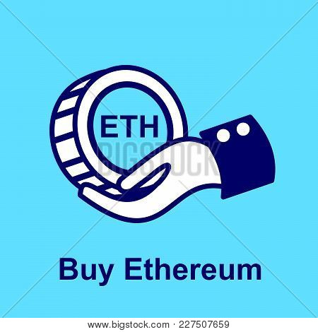 Design Concept Of Cryptocurrency Technology. Exchange - Buy Ethereum.