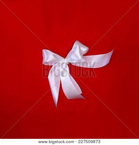 Beautiful Original Bow Of Satin Ribbon, Gift Knot