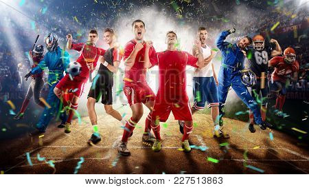 Successful Football, Soccer, Basketball, Baseball, Tennis Players, Cars, Boxing Fighters On Professi