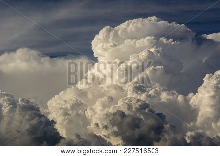 Clouds Background Cumulonimbus Cloud Formations Before The Storm