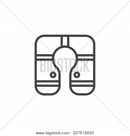 Life Jacket Outline Icon. Linear Style Sign For Mobile Concept And Web Design. Life Vest Simple Line
