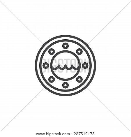 Yacht Cabin Window Outline Icon. Linear Style Sign For Mobile Concept And Web Design. Boat, Ship Win