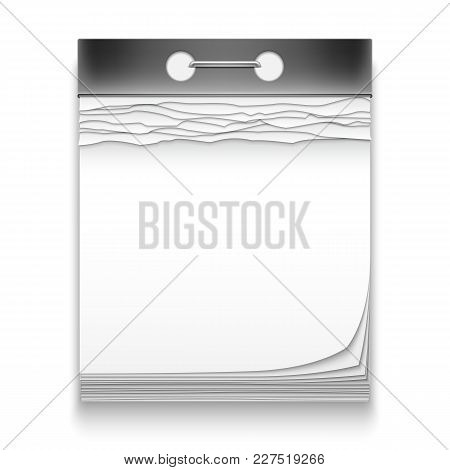 Date Calendar With Blank Pages Isolated On White Background