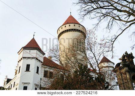 Konopiste Castle Exterior Outside City Benesov, Bohemia, Czech Republic,