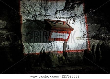 Underground Mining Equipment, Dynamite Box On The Wall