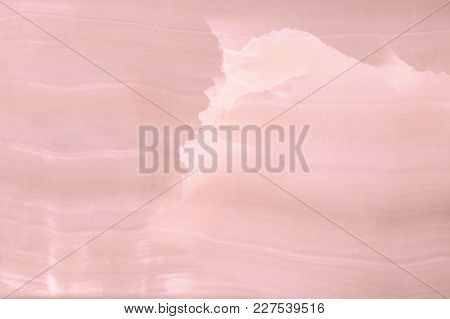 Lightened Slices Marble Onyx. Horizontal Image. Warm Pink Colors. Beautiful Close Up Background. Ide