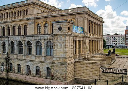 Kaliningrad, Russia - July 1, 2010: Koenigsberg Exchange. Now The Regional Center Of Youth Culture,