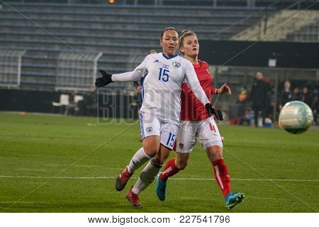 Moedling, Austria, 23th November 2017: Viktoria Pinther At Fifa Wm Qualification Ladies Austria Vs I