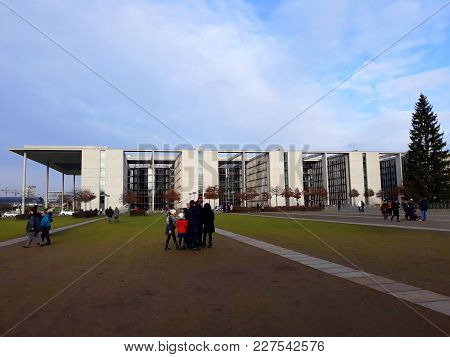 Berlin, Germany - December 3, 2017: The House Of Paul Loebe, The Auxiliary Building Of The German Pa