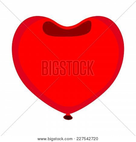 Balloon Icon. Love And Gifts For Web On White Background. Flat Vector Illustration