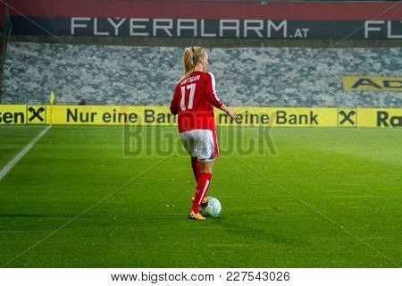 Moedling, Austria, 23th November 2017: Sarah Puntigam At Fifa Wm Qualification Ladies Austria Vs Isr