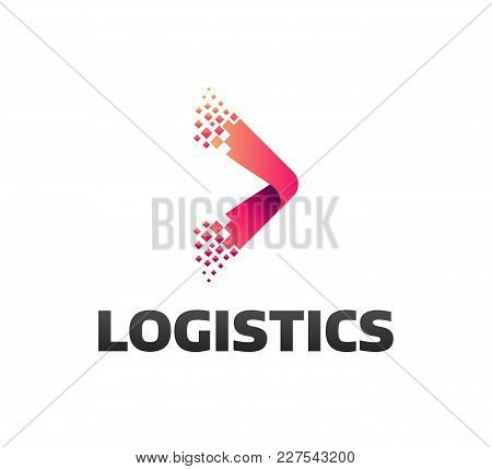 Logistic Company Vector Logo. Arrow Icon. Delivery Icon. Arrow Icon. Arrow Vector. Delivery Service