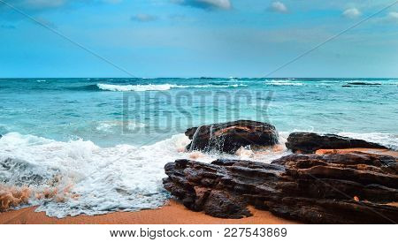 Beach On The Shores Of The Indian Ocean, Sri Lanka, Tangale,