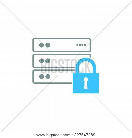 Data Security Technology Communication Vector Design Illustration