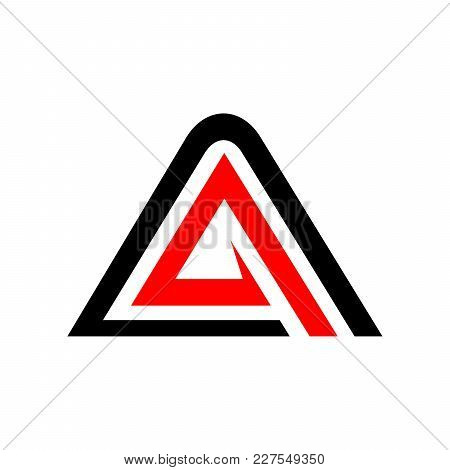Initial A Accelerate Triangle Symbol Vector Graphic Logo Design