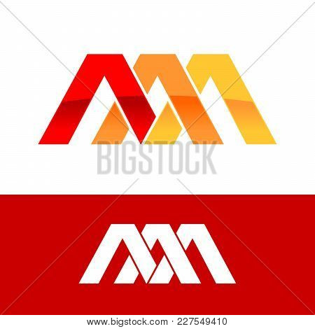 Triple Initial A Triangle Intersection Symbol Logo Design Graphic