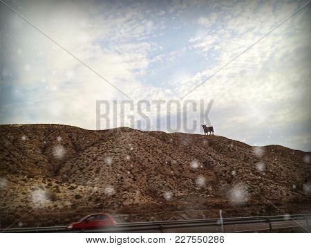Paisaje De La Zona De Aragón, País España. Landscape Of The Aragon Area, Country Spain