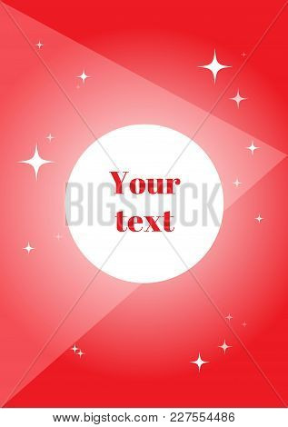 Bright Doodle With Geometric Symbols And Bright Stars; Geometric Layout With Your Text